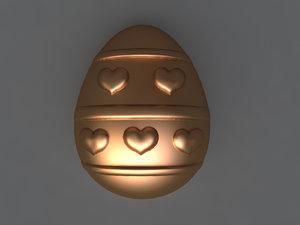 3D model egg mold hand