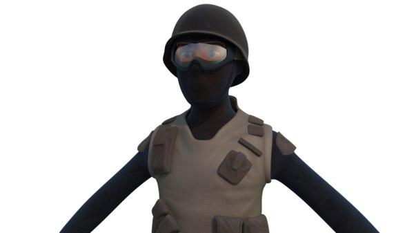 swat character 3D