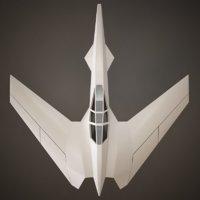 3D space spaceship model
