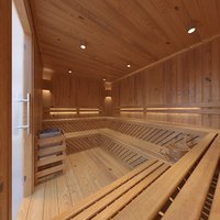 sauna room lighting 3D model