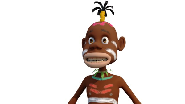 3D african character