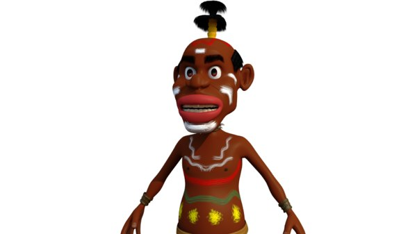 3D african character model