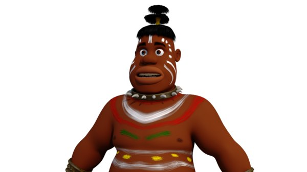 african character 3D model