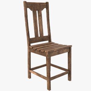 classic chair wood 3D model
