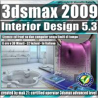 005.3 3ds max 2009 Interior Design v.5.3 Italiano cd front