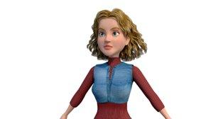 women character 3D model