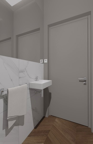 3D wc interior bathroom model