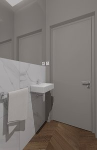 3D wc interior bathroom model