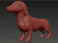3D dachshund puppy dog