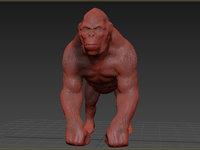 gorilla animation 3D model