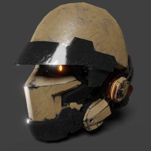 robot head 3D model