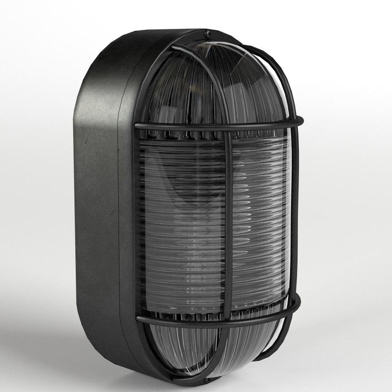 bulkhead lamp light 3D model