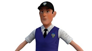 police character 3D