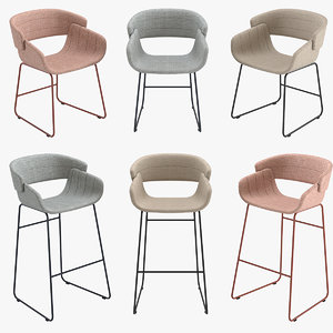 3D barstool chair dining