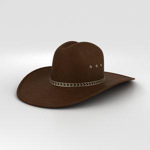 cowboy hat cow 3D model