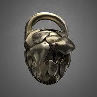 3D fantasy padlock