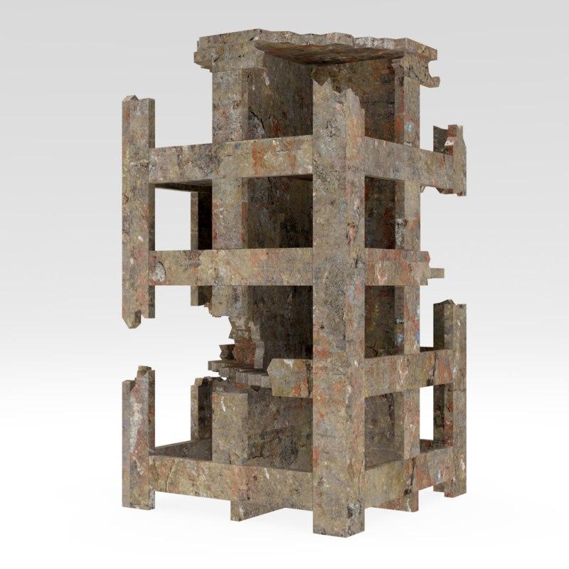structure building 3D model