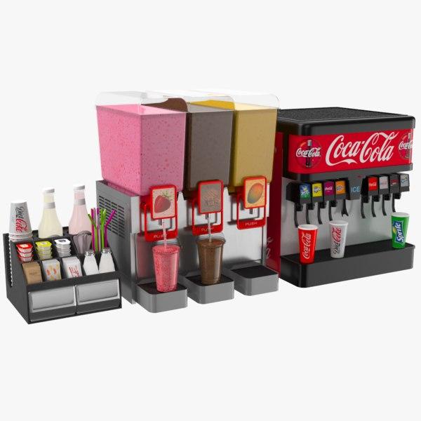 dispensers cafes restaurant 3D model