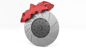 3D brake disc model