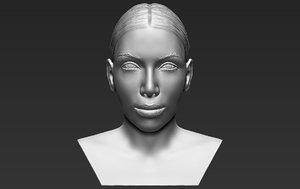 3D kim kardashian bust ready