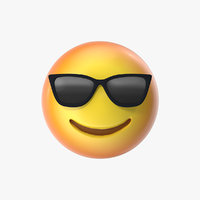 3D emoji 12 smiling face model