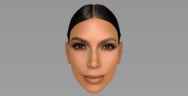 3D head kim kardashian model