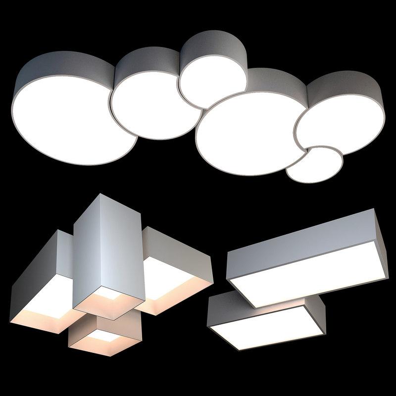 3D model ceiling light