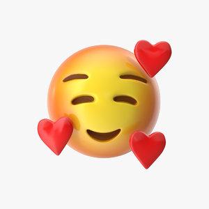 3D emoji 15 smiling face