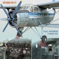 3D antonov an-2t model