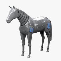 robot horse 3d model