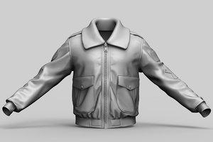 usa pilot jacket 3D model
