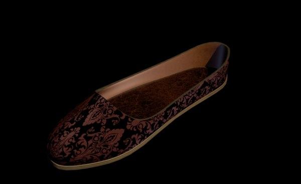 3D shoes flats model
