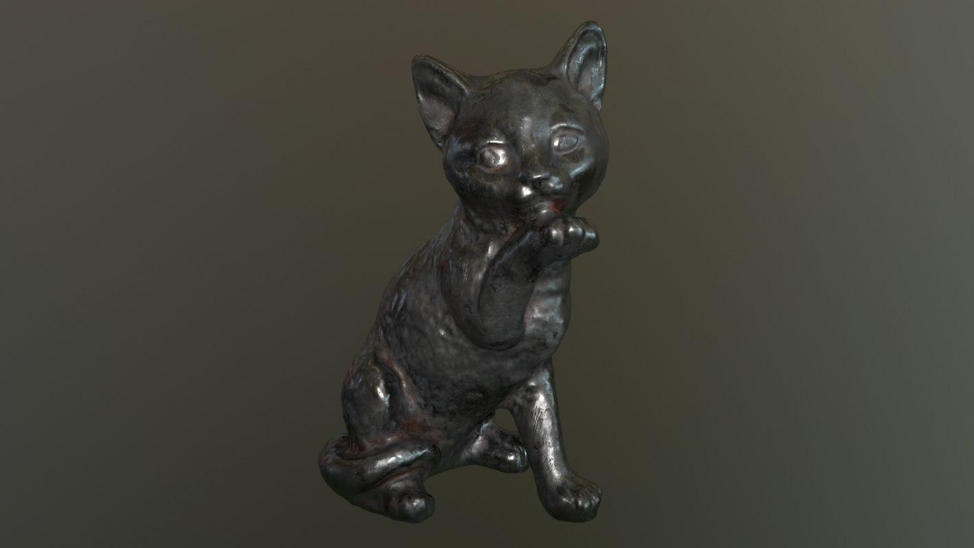 cat statue model