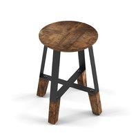 3D stool rustic