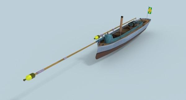 3D torpedo boat alfa iii