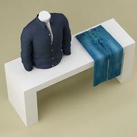 clothes 3d max