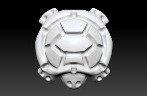 3D backgammon stone turtle model
