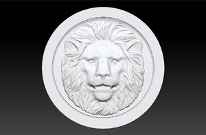 backgammon stone lion 3D model
