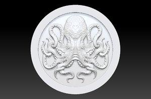 backgammon stone octopus 3D model