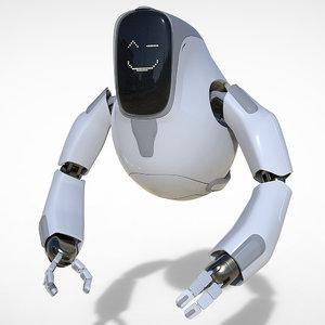 3D droid bot model