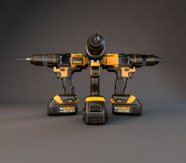 3D model cordless drill