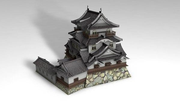 japanese oriental style temple 3D model