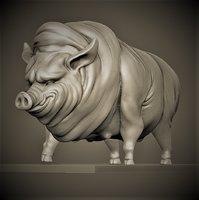 3D porky pig