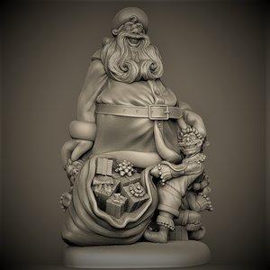 3D santa elf model