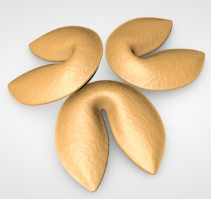 3D fortune cookie model