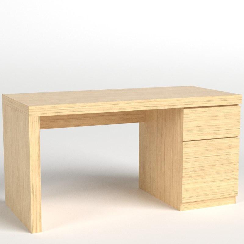 3D large table desk model