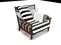 gervasoni gray chair 3D model
