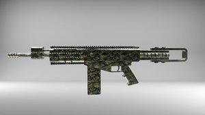 jm-82 assault rifle blackened model