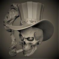 3D skull sigar model