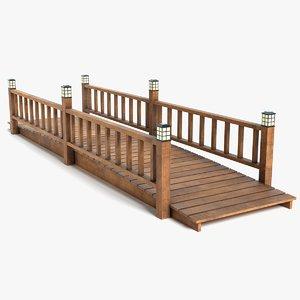3D wood bridge